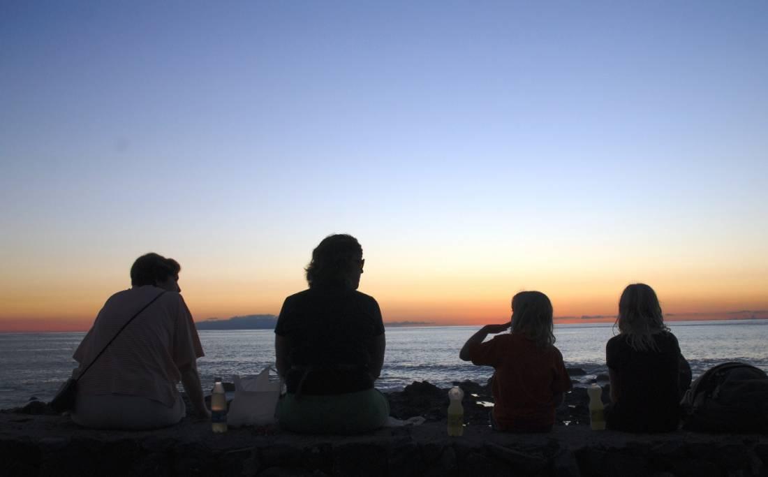 Sonnenuntergangangspicknick